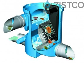 Volumenfilter VF1 mit Edelstahlsieb und Teleskopverlängerung